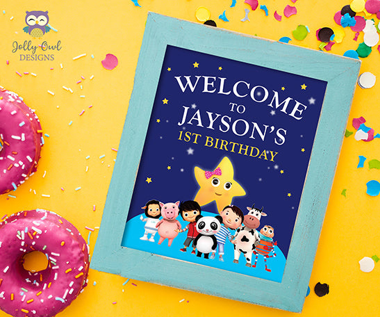 Little Baby Bum Birthday Party Welcome Sign - Personalized
