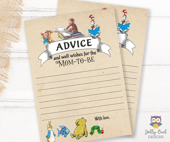 Story Book Themed Baby Shower - Advice for the Mom To Be