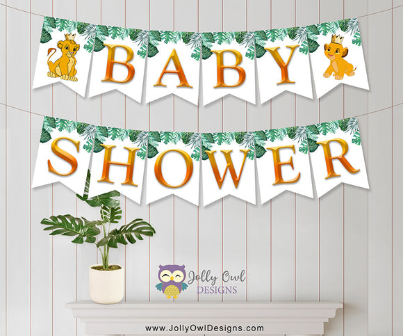 The Lion King Baby Shower Banner