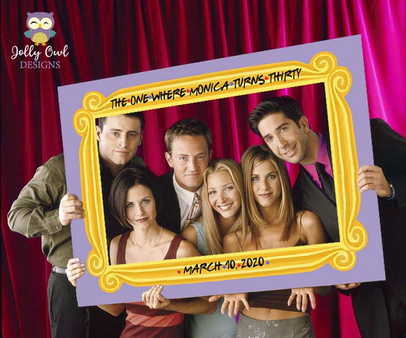 FRIENDS TV Show Birthday Party Photo Booth Frame