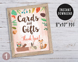 Woodland Themed Baby Shower / Birthday Party Signs - Bundle Set