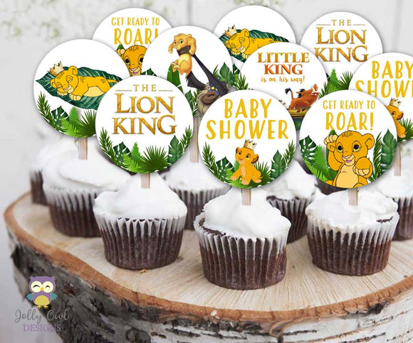 The Lion King Cupcake Toppers for Baby Shower - Party Circles