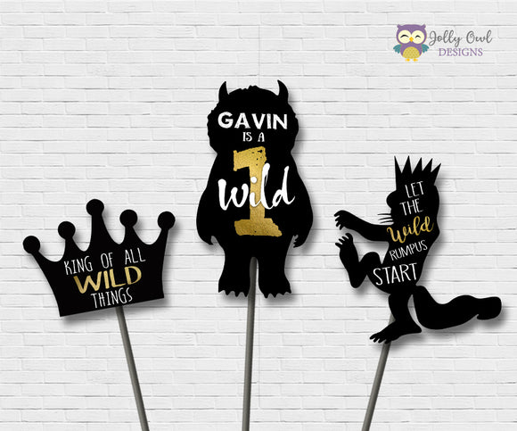 Where The Wild Things Are Birthday Party Centerpiece Personalized