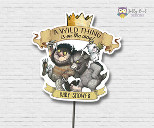 Where The Wild Things Are Baby Shower Centerpiece Personalized