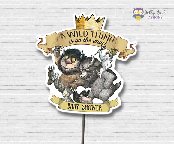 Where The Wild Things Are Baby Shower Centerpiece Personalized - Jolly Owl Designs