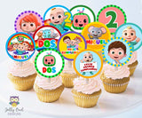 Cocomelon Birthday Party - PERSONALIZED Cupcake Topper in Spanish