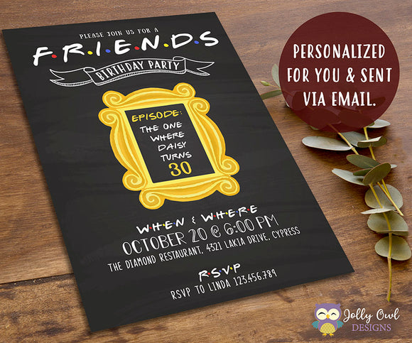 FRIENDS TV Show Party Invitation