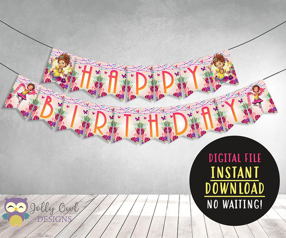 Fancy Nancy Happy Birthday Printable Banner