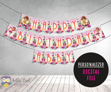 Fancy Nancy Personalized Happy Birthday Printable Banner - Jolly Owl Designs