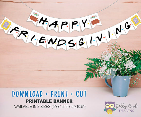 Friends TV Thanksgiving Banner | Friendsgiving Banner