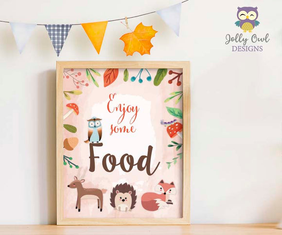 Woodland Themed Baby Shower/Birthday Party Food Sign