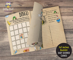 Story Book Themed Baby Shower Games - Booklet Type Bundle Set