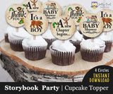 Storybook Themed Cupcake Toppers  |  Baby Shower It's A Boy