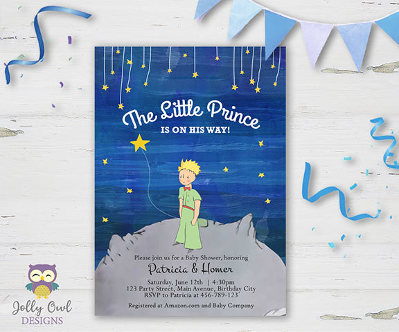The Little Prince Baby Shower Invitation