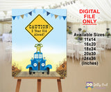 Little Blue Truck Birthday Party Poster Sign - CAUTION: 2 Year Old Ahead