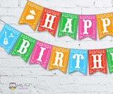 Mexican Fiesta Happy Birthday Printable Banner Personalized