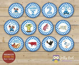 Little Blue Truck Cupcake Toppers | Birthday Party Circles - PERSONALIZED