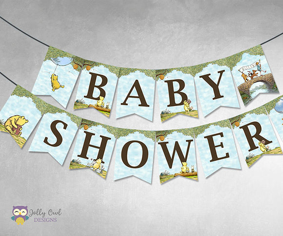 Winnie The Pooh Baby Shower Printable Banner