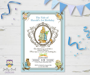 Peter Rabbit Birthday Party Invitation