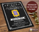 FRIENDS TV Baby Shower Invitation