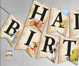 Book Themed Happy Birthday Banner