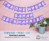 Friends TV Bridal Shower Party Banner