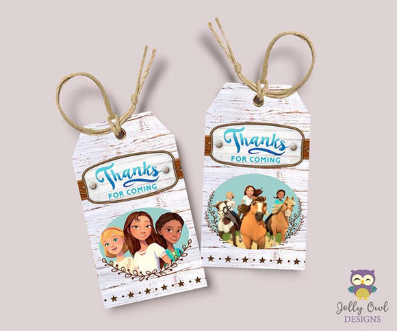 Spirit Riding Free Party Favor Tag - Thank You Tag