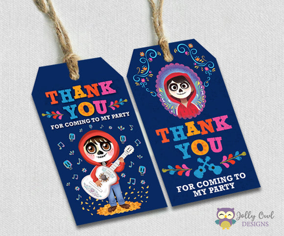 COCO Party Favor Tag - Thank You Tag