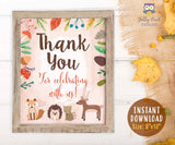 Woodland Themed Baby Shower/Birthday Party Thank You Sign