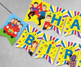 Wiggles Happy Birthday Printable Banner - Jolly Owl Designs