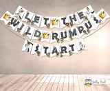 Where The Wild Things Are Printable Banner - Let The Wild Rumpus Start