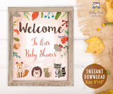 Woodland Themed Baby Shower Party Welcome Sign