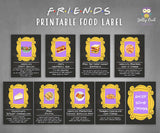 Friends TV Themed Party Food Label