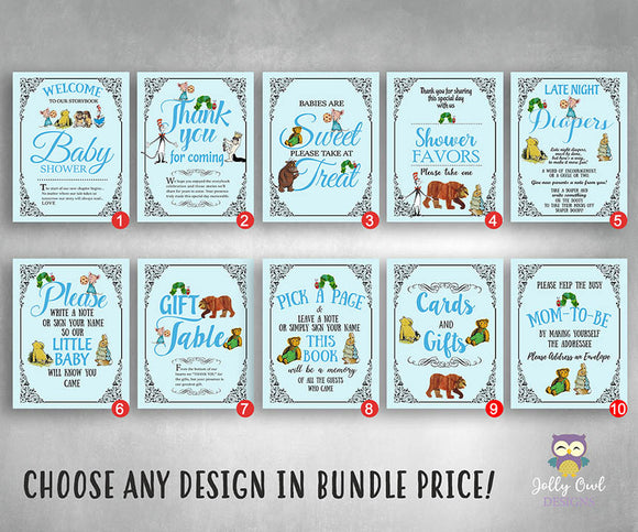 Story Book Themed Party Signs - Bundle Set