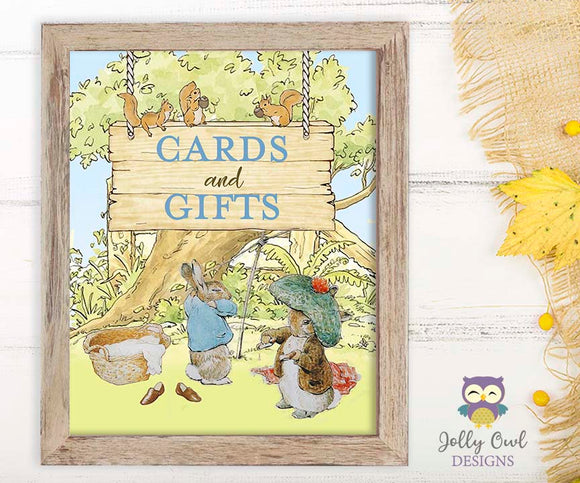 Peter Rabbit Party Signs - Cards and Gifts