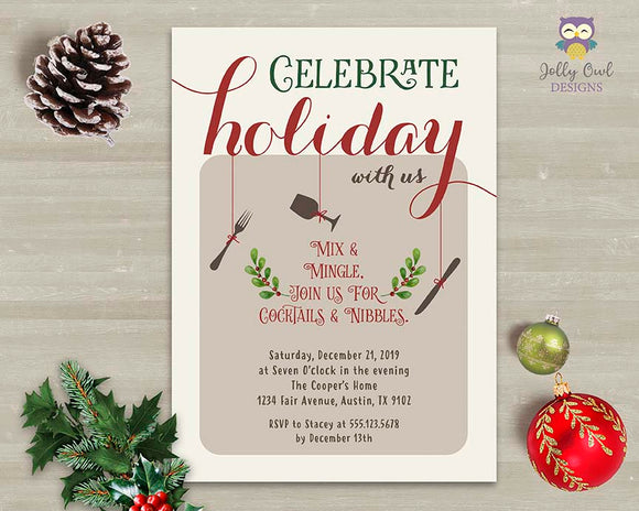 Christmas Holiday Party Invitation - Celebrate Holiday