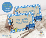 Editable Food Tent Label for Little Blue Truck Party Theme