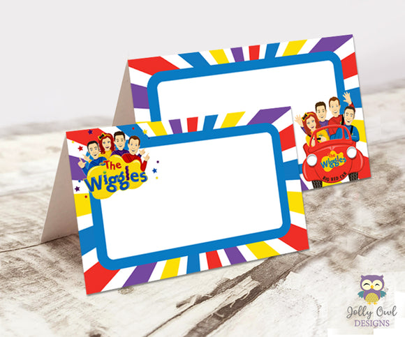 The Wiggles Themed Party Food Label - Jolly Owl Designs