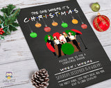 FRIENDS TV Show Christmas Party Invitation