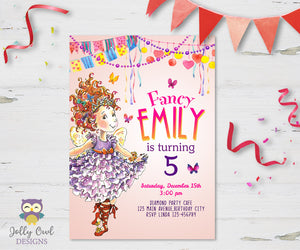 Fancy Nancy Birthday Party Invitation