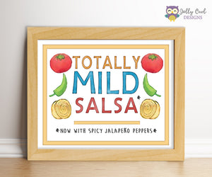 Dragons Love Tacos Party Sign - Totally Mild Salsa