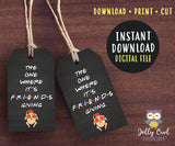 Friends TV Themed Party Favor Tag