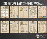 Book Themed Baby Shower Games - 10 Games BUNDLE SET