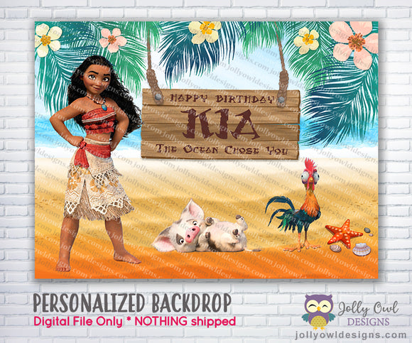 Moana Party Backdrop