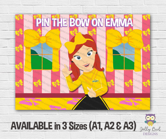 The Wiggles Themed Party - Pin The Bow - Jolly Owl Designs