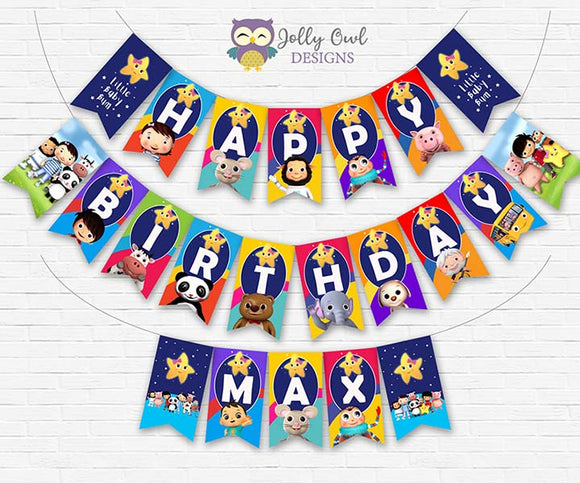 Little Baby Bum Birthday Party Banner Decoration - Personalized