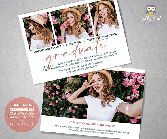 Graduation Announcement - Party Invitation
