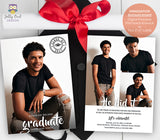 Graduation Announcement Card - Photo Collage - Invitation Card