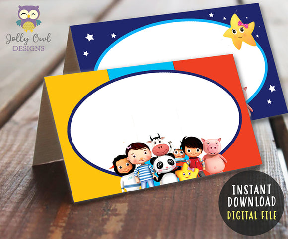 Little Baby Bum Birthday Party Food Tent Or Label - Digital Download