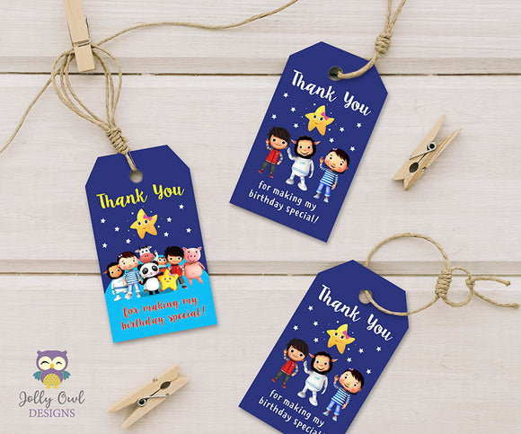 Little Baby Bum Birthday Party Thank You or Favor Tag - Digital Download